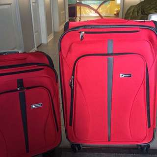 Brand new 2pc Delsey soft luggage set