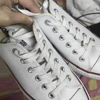 超新Converse白皮低筒鞋