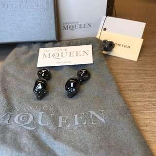 Alexander McQueen crystal eye skull cufflink