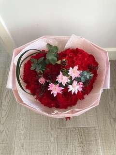 訂花 情人節 母親節 生日禮物 紀念日送花 鮮花 情人節送花 心型花