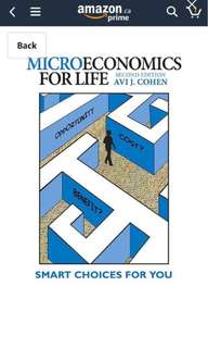 Microeconomics for life by cohen