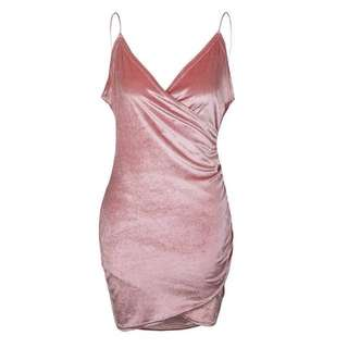 Velvet Bodycon Evening Dress