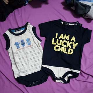 Baby romper - i am a lucky child