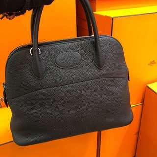 正品 全新 Hermes Bolide 31 黑色手挽側揹袋