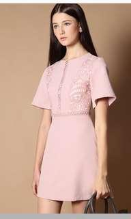 TSW Hayley crochet flutter sleeve dress