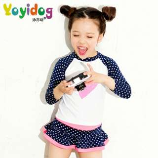 Korea girl swimsuit long sleeve