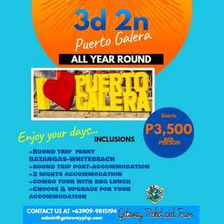 3D 2N Puerto Galera Package