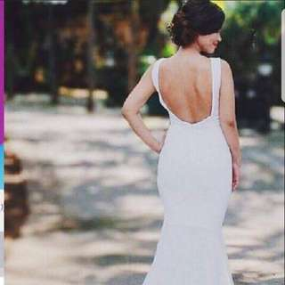 White backless sexy gown on SALE!!
