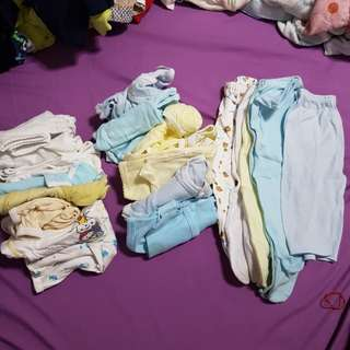 Bundle Of Clothes ALL FOR $5 - 8pc-6 to 12mths, 7pc - 3 to 6 mths, 5pc - footed pants & 1 pc non-footed pants