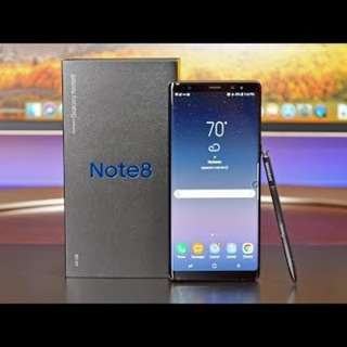 Brand New Note 8 midnight black