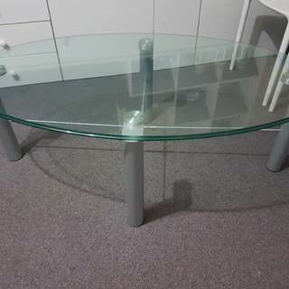 Quality tempered thick glass coffee table