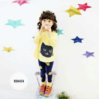 Girl Set RBK454 Yellow