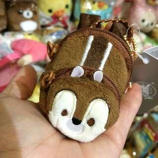原裝 日本 迪士尼  限定 Chip Dale 系列 鋼牙 可愛 小背囊 散子包 coins bag 可以比公仔用 背包