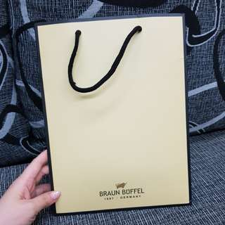 Authentic Braun Buffel Paperbag