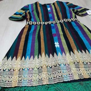 Dress Tenun Etnik