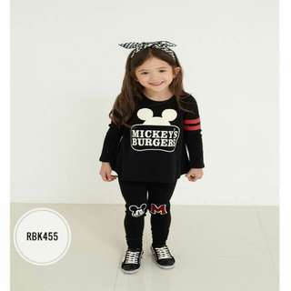 Girl Set  RBK455  BLACK