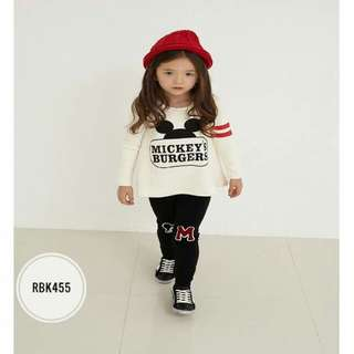 Girl Set RBK455  White