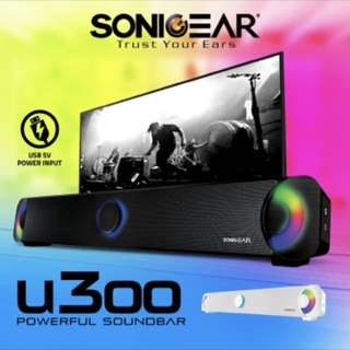 SonicGear U300 Sound Bar/Speaker with Light Effects