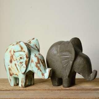 Chunky Handmade Decorative Elephant Statue