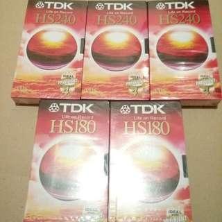 TDK VHS HS240 錄影帶三盒 HS180 錄影帶二盒