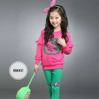 Girl Set RBK457 Pink