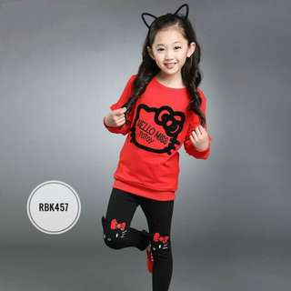 Girl Set RBK457 Red