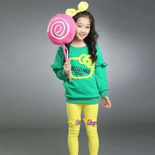 Girl Set RBK457  Green