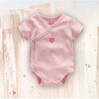 Baby Pink Heart Romper / Onesies / Kimono Chinese New Year for Baby Boys from 0-12 months