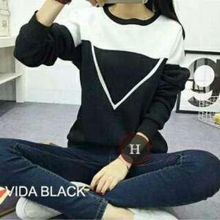 Sweater Vida BLACK TERMURAH