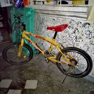 mini mountain bike. di na nagagamit at nakatambak nalang. but still good condition. flat lang gulong.