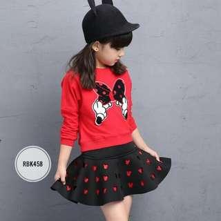 Girl Set  RBK458  RED