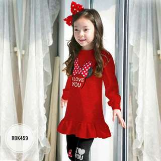 Girl Set  RBK459  RED