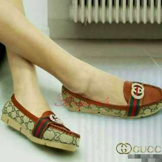 FLAT SHOES LOAFERS GUCCI ADELLE CHOCO