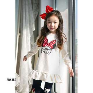 Girl Set  RBK459  WHITE