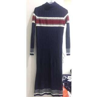 GU 全新 日本購入 針織洋裝 微高領 吊牌未剪
