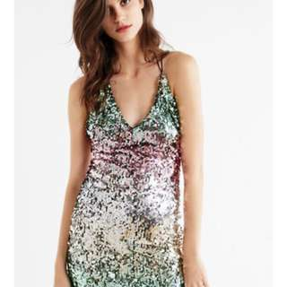 Urban Outfitters Sparkle/Backless Dress size Medium