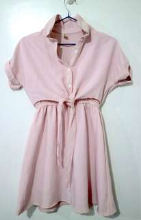 Pink & Preppy Cotton Tie Dress