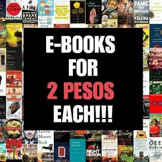 EBOOKS FOR 2 PESOS EACH!!!