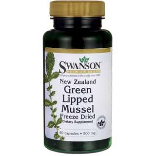 (USGMP) SW1434 Swanson New Zealand Green Lipped Mussel 500mg 60Caps 青口素 關節護理