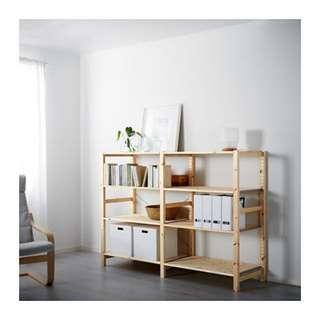 Ivar 2section shelves