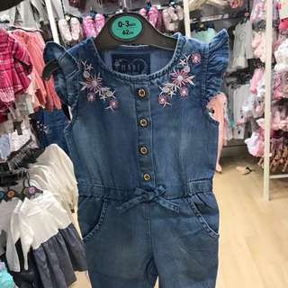 PRIMARK BABY GIRL DENIM JUMPER