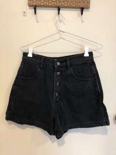 Denim hi top shorts