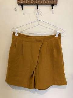 Mustard work shorts