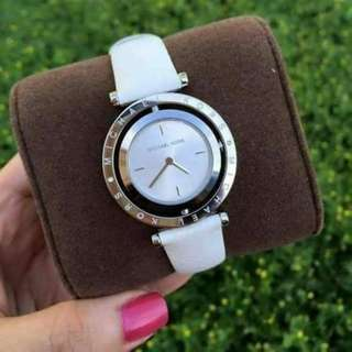 Mk watch leather strap