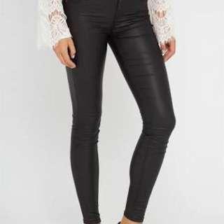 Wet look jeans