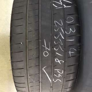 255/35/18 michelin pss 2pc used tyre $75pc