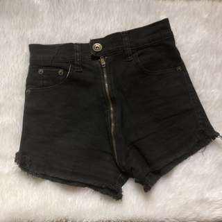 Front zipper HW shorts