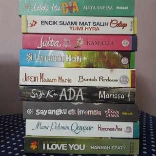 Novel Melayu (Rm11 each)