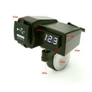 Charger motor with voltmeter waterproof