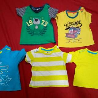 Mix of Mothercare, Poney and Anakku shirt 0-6m